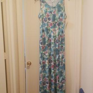 NWT LuLaRoe Dani Sleeveless Maxi Dress 2xl floral